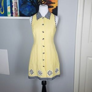 Dresses & Skirts - Vintage Linen Sleeveless 50s Style Shirt Dress